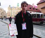 チェコ『Novy Prostor』誌販売者 ジェルスラヴ・ゴットワルドさん