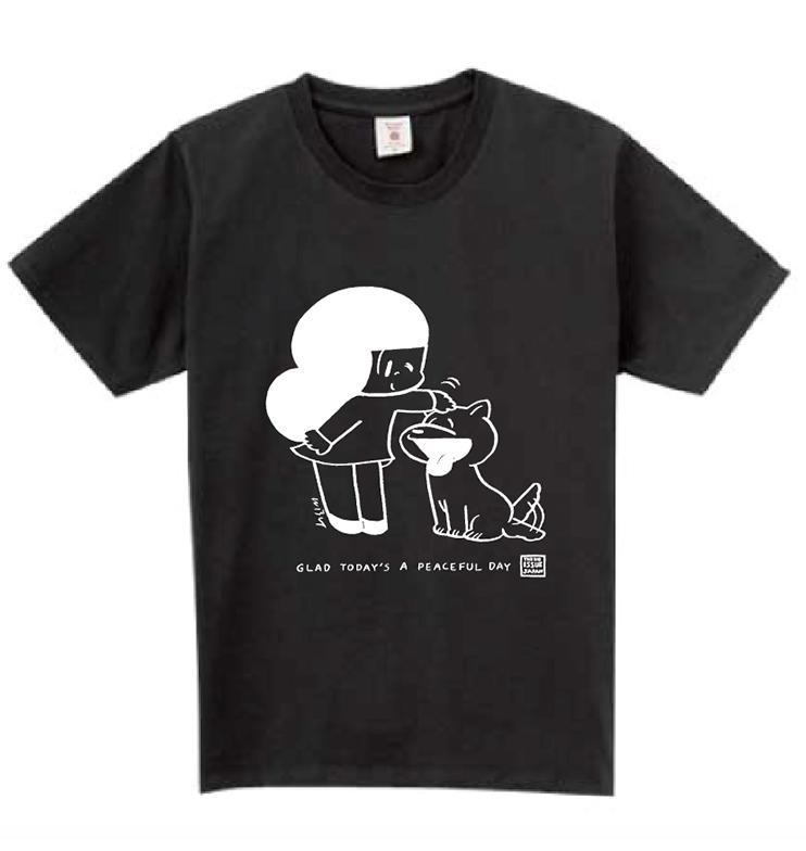 コラボTシャツ:ブラック(ユニセックス)